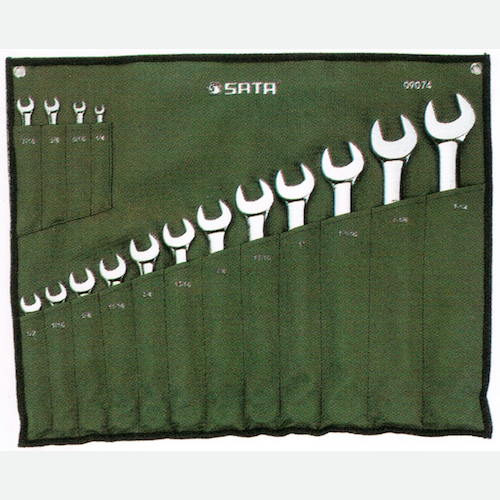 SATA Combination Wrench Set 16pc, 1/4