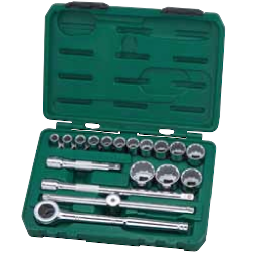 SATA Socket Set 18pc, 1/2