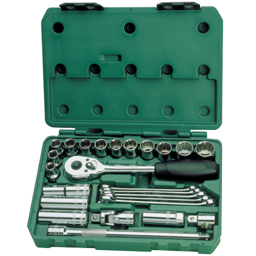 SATA Socket Set 25pc, 1/2