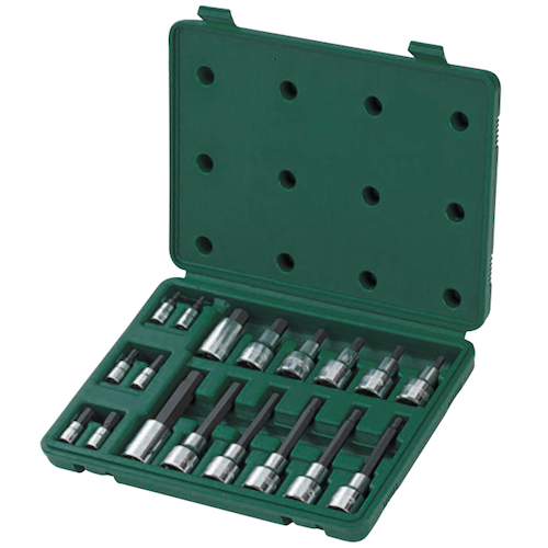 SATA Dr. Bit Socket Set 18pc, 1/4