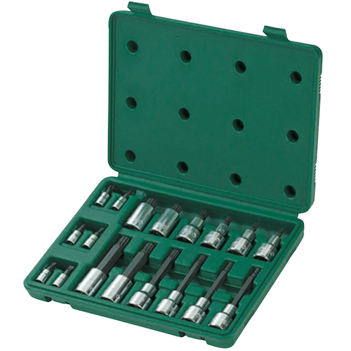 SATA Dr. TORX Bit Socket Set 18pc, 1/4