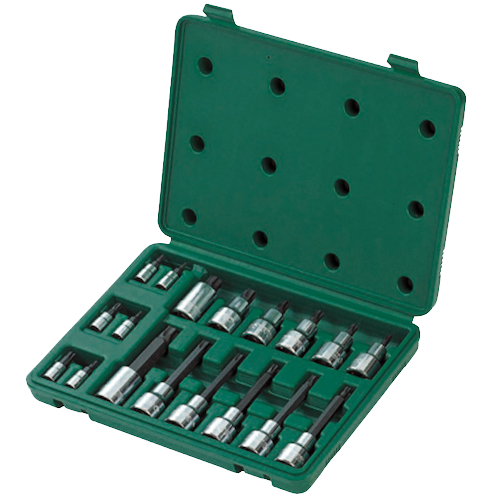 SATA Dr. Hex Bit Socket Set 18pc, 1/4
