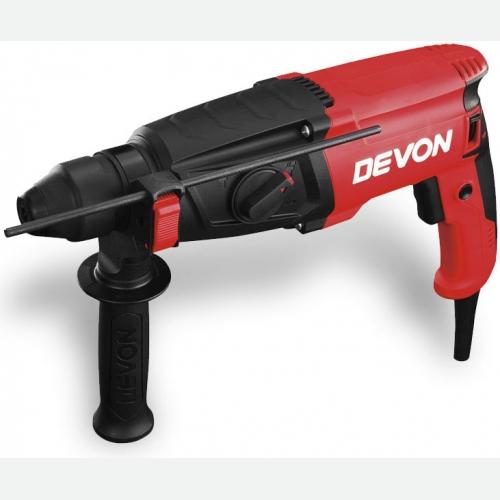 Devon Rotary Hammer Drill 3in1, 800W, 1150rpm, 2.7kg 1107-26DRE