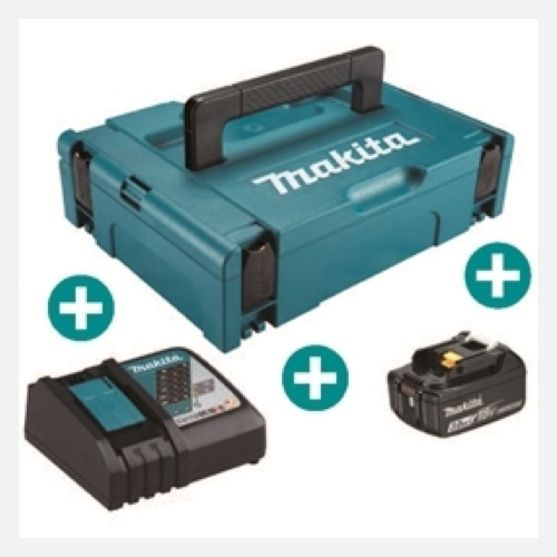 Makita Battery Kit18V5.0Ah x 1pc, Fast Charger x 1pc MKP1RT181