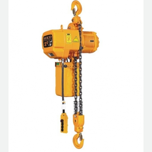 HKD Chain Hoist 0.5tx5m 3Ø 6.9&2.3/min 0.75kW 72kg HKD00501SD