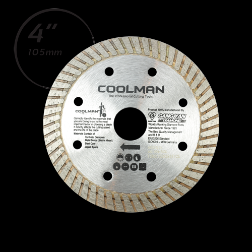 COOLMAN CONTINUOUS TURBO RIM BLADE