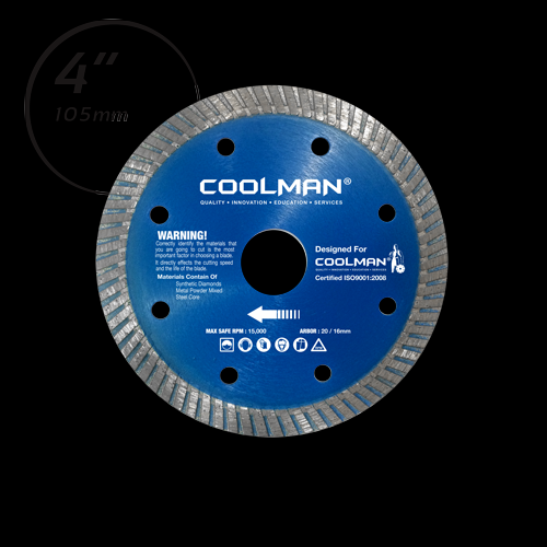 COOLMAN CONTINUOUS THIN TURBO RIM BLADE