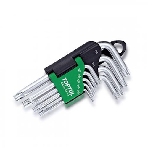 Toptul 9PCS Short Type Star Key Wrench Set