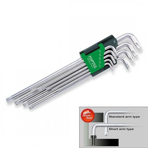 Toptul 9PCS Long Type Star Key Wrench Set