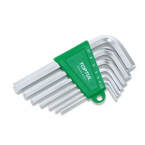 Toptul 7PCS Short Type Hex Key Wrench Set