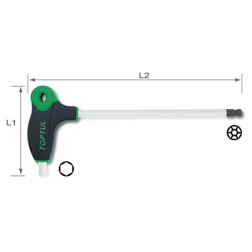 Toptul L-Type Two Way Ball Point & Hex Key Wrench