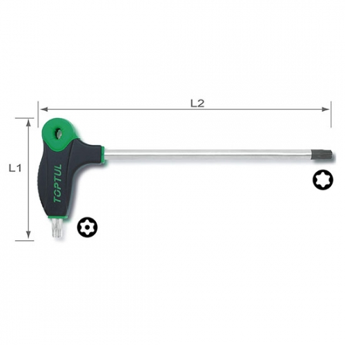 Toptul L-Type Two Way Star & Tamperproof Key Wrench