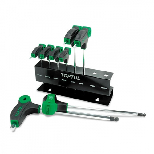 Toptul 8PCS L-Type Two Way Ball Point & Hex Key Wrench Set