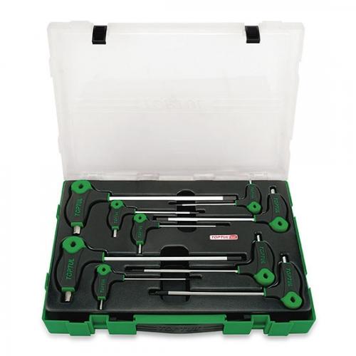 Toptul 9PCS L-Type Two Way Hex Key Wrench Set