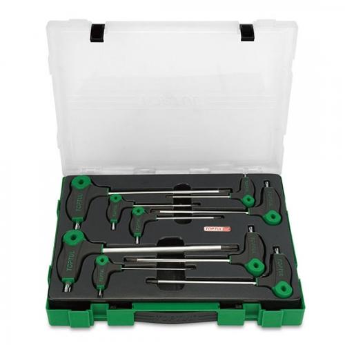 Toptul 9PCS L-Type Two Way Star & Tamperproof Key Wrench Set