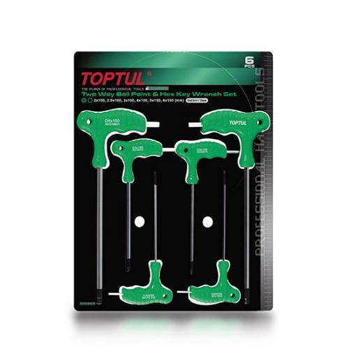 Toptul 6PCS Two Way Ball Point & Hex Key Wrench Set