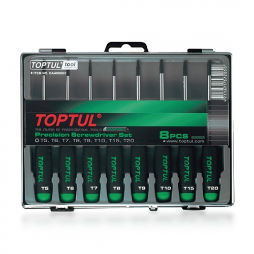 Toptul 8PCS Precision Screwdriver Set (Star Type)