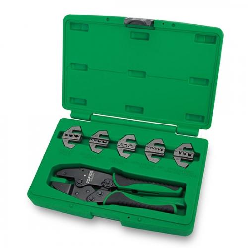 Toptul 6PCS Quick Interchangeable Ratchet Crimping Tool Kit