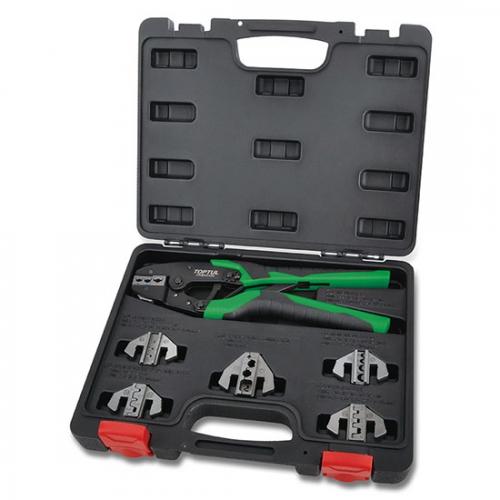 Toptul 7PCS Quick Interchangeable Ratchet Crimping Tool Kit