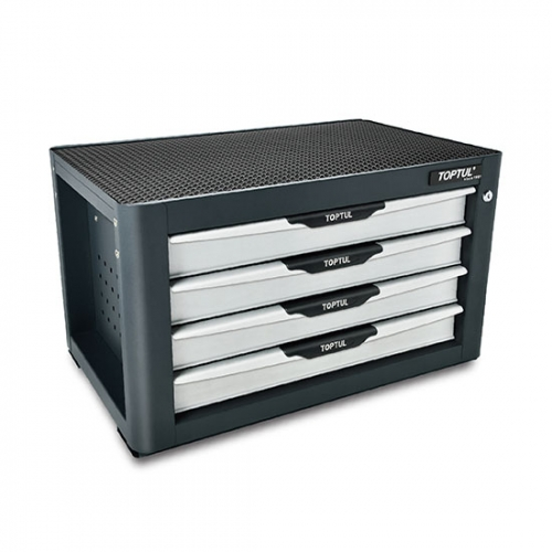 Toptul NEW MODEL - 4-Drawer Tool Chest - PRO-PLUS SERIES - GRAY