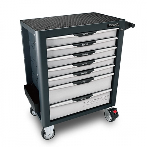 Toptul NEW MODEL - 7-Drawer Mobile Tool Trolley - PRO-PLUS SERIES - GRAY