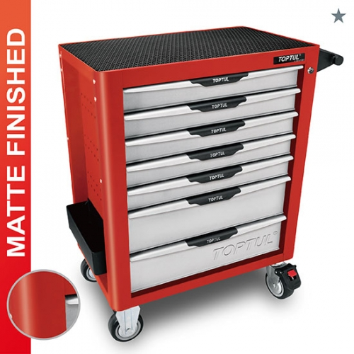 Toptul NEW MODEL - 7-Drawer Mobile Tool Trolley - PRO-PLUS SERIES - RED