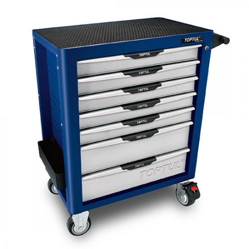 Toptul NEW MODEL - 7-Drawer Mobile Tool Trolley - PRO-PLUS SERIES - BLUE