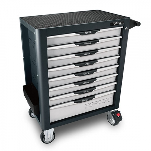 Toptul NEW MODEL - 8-Drawer Mobile Tool Trolley - PRO-PLUS SERIES - GRAY