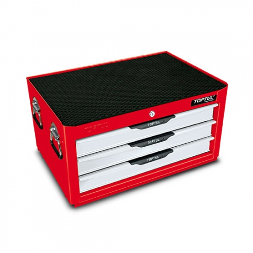 Toptul 3-Drawer Middle Tool Chest - PRO-LINE SERIES - RED