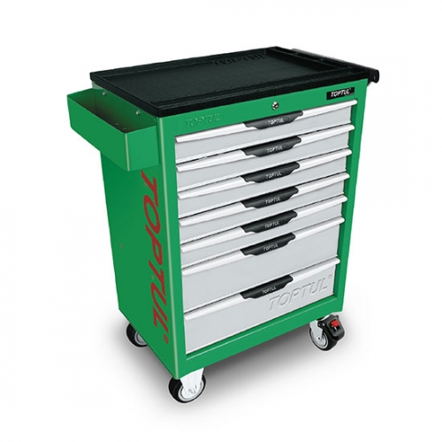 Toptul 7-Drawer Mobile Tool Trolley - PRO-LINE SERIES - GREEN