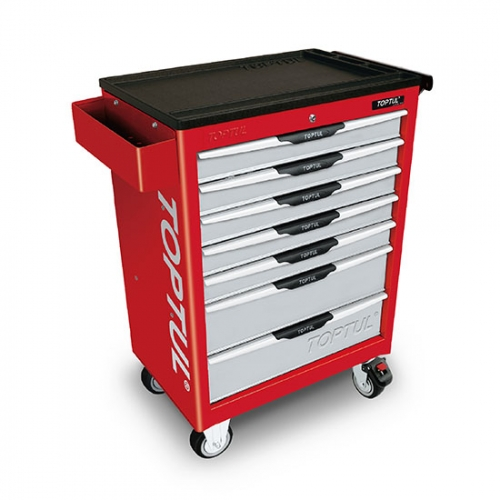 Toptul 7-Drawer Mobile Tool Trolley - PRO-LINE SERIES - RED