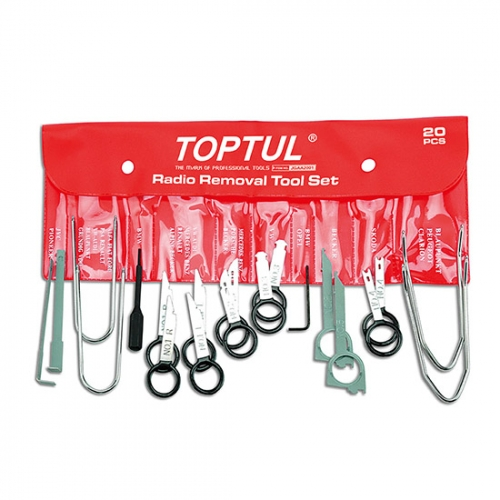 Toptul 20PCS Radio Removal Tool Set