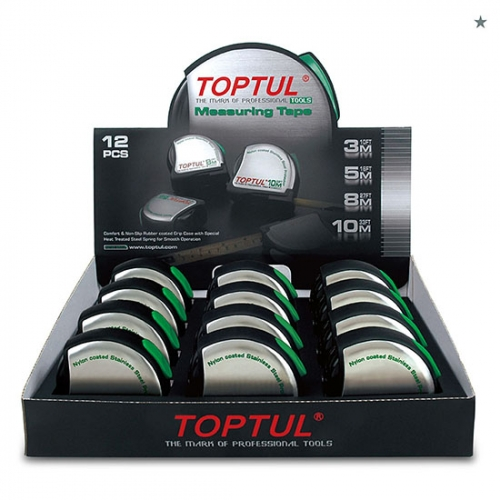 Toptul 12PCS Measuring Tape Set W/Display Box