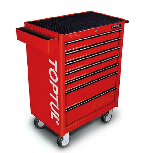 W/7-Drawer Tool Trolley - 227PCS Mechanical Tool Set (GENERAL SERIES) RED
