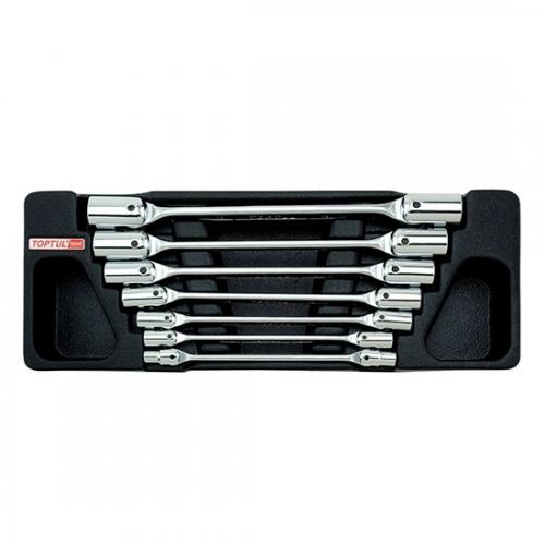 7PCS - Double End Swivel-Socket Wrench Set