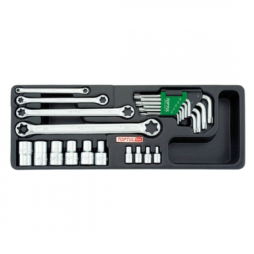 23PCS - Star Wrench, Sockets & Key Wrench Set
