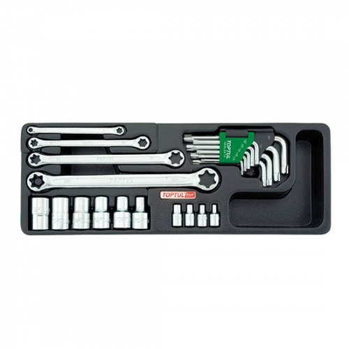 23PCS - Star Wrench, Sockets & Key Wrench Set