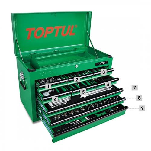186PCS Professional Mechanical Tool Set W/9-Drawer Tool Chest