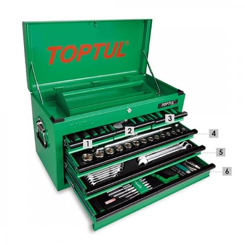120PCS Professional Mechanical Tool Set W/6-Drawer Tool Chest