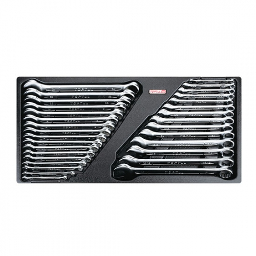 31PCS - 15° Offset Standard Combination Wrench Set (METRIC & SAE)