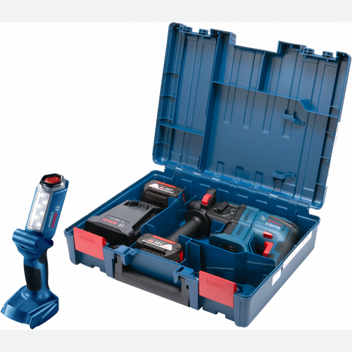 Bosch Cordless Hammer Drill GBH180-Li + LED Light GLI180Solo