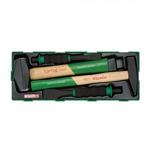 4PCS - Hammer & Soft Grip Chisel Set