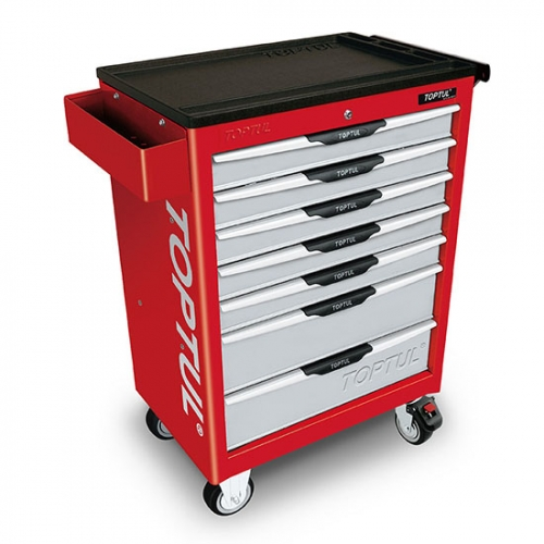 W/7-Drawer Tool Trolley - 261PCS Mechanical Tool Set (PRO-LINE SERIES) RED