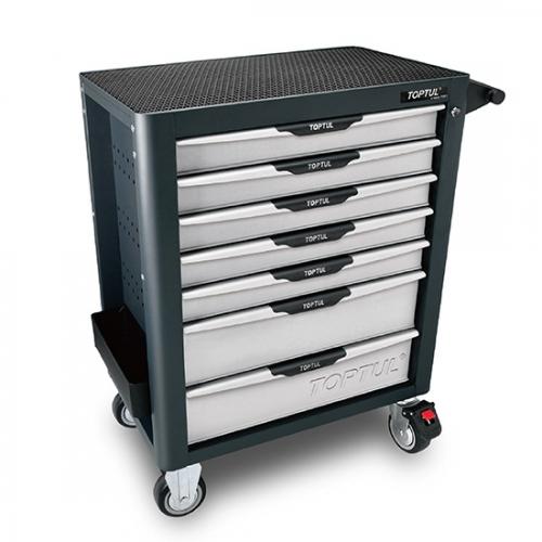 W/7-Drawer Tool Trolley - 214PCS Mechanical Tool Set (PRO-PLUS SERIES) GRAY