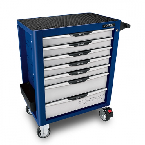 W/7-Drawer Tool Trolley - 280PCS Mechanical Tool Set (PRO-PLUS SERIES) BLUE