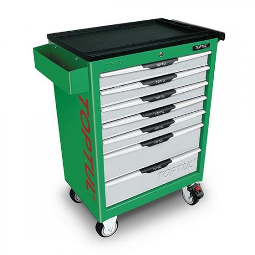 W/7-Drawer Tool Trolley - 280PCS Mechanical Tool Set (PRO-LINE SERIES) GREEN