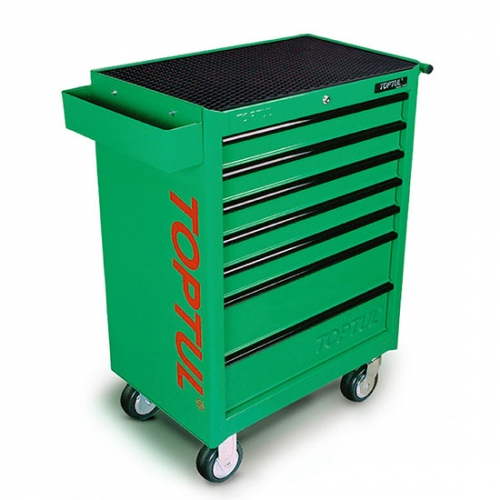 W/7-Drawer Tool Trolley - 280PCS Mechanical Tool Set (GENERAL SERIES) GREEN