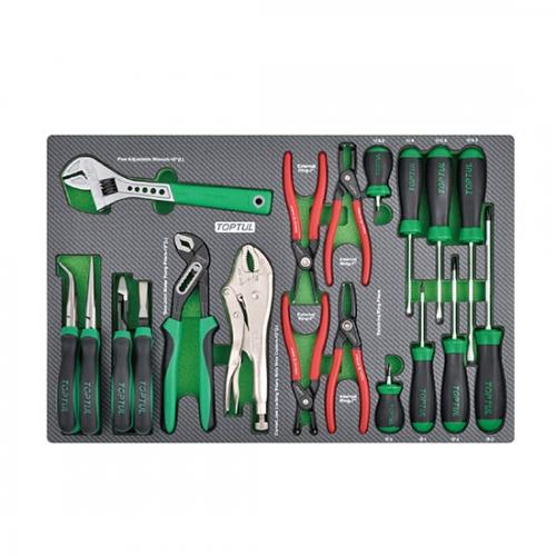 19PCS - Adjustable Wrench, Plier & Screwdriver Set