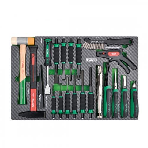 21PCS - Hammer, Punch, Chisel & Plier Set
