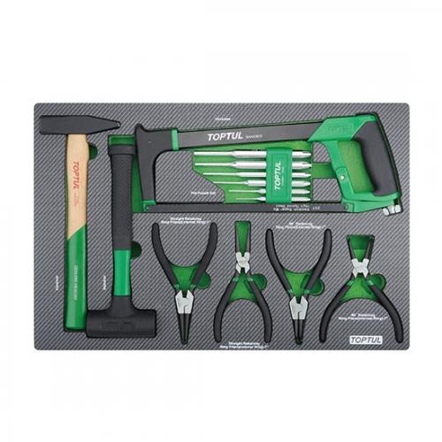 13PCS - Hammer, Punch, Hacksaw & Pliers Set